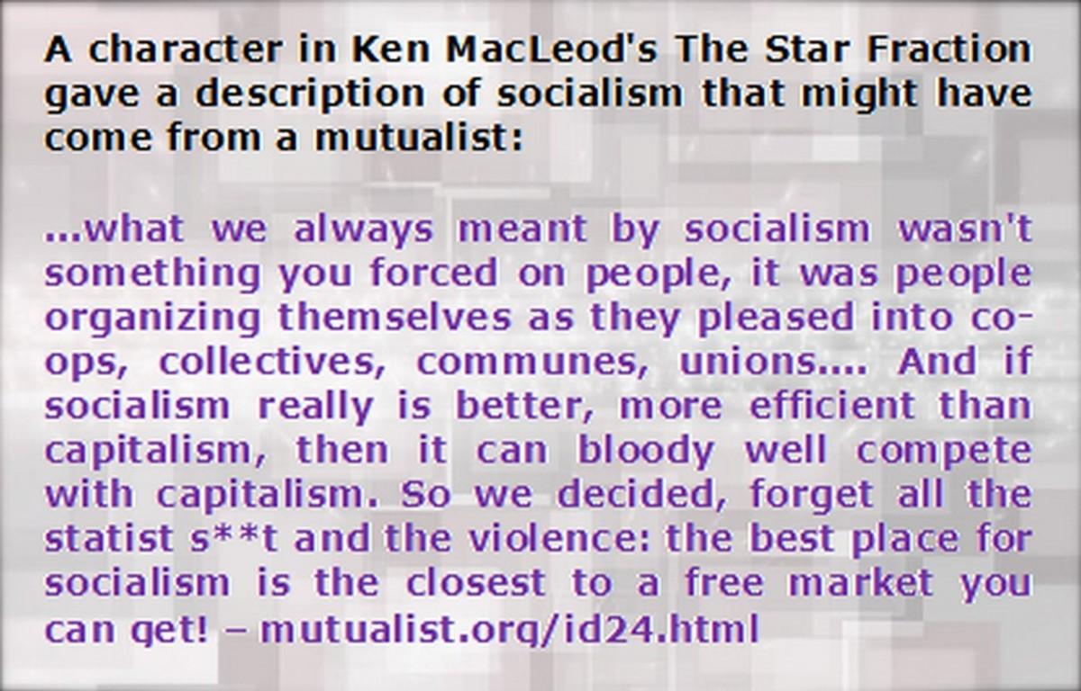 Free Market Socialism.