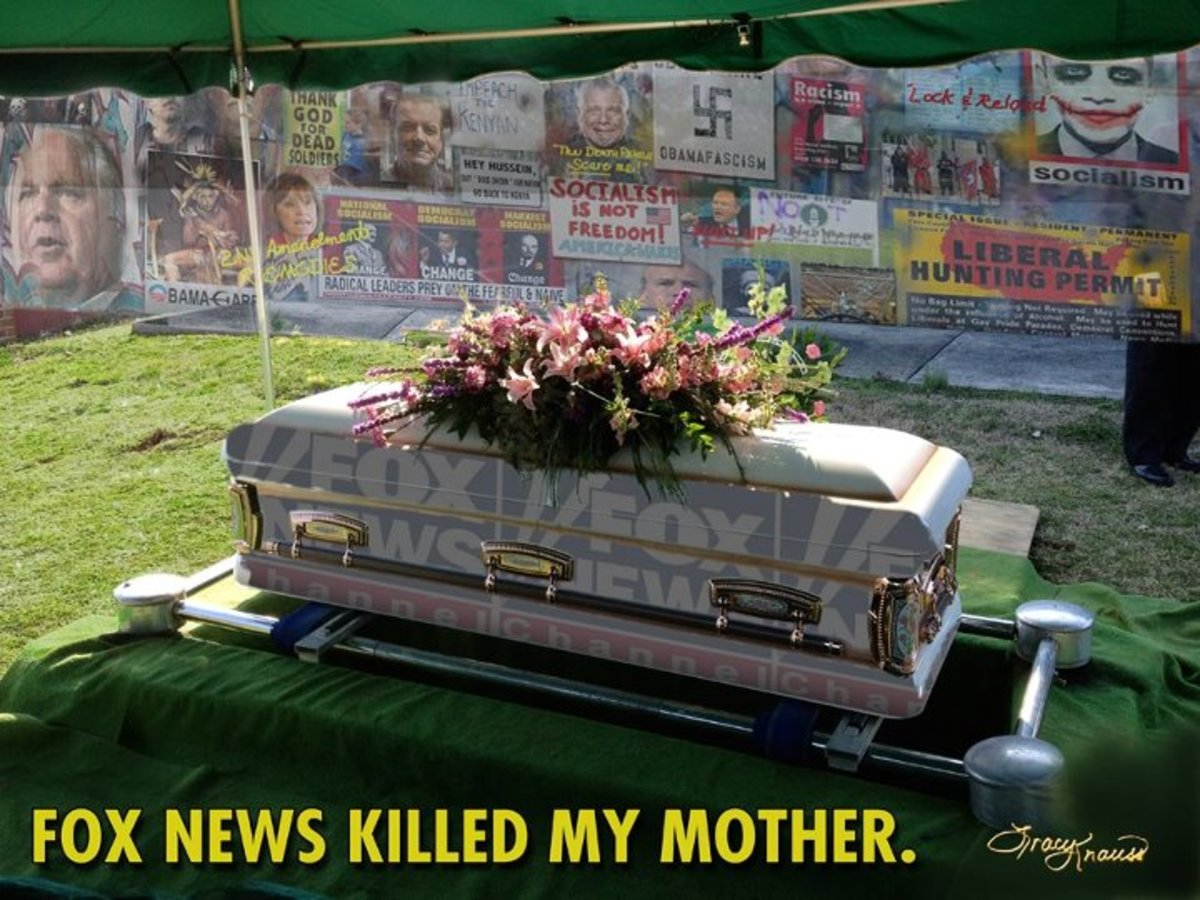 This is actual coffin for Tracy Knauss' mother.