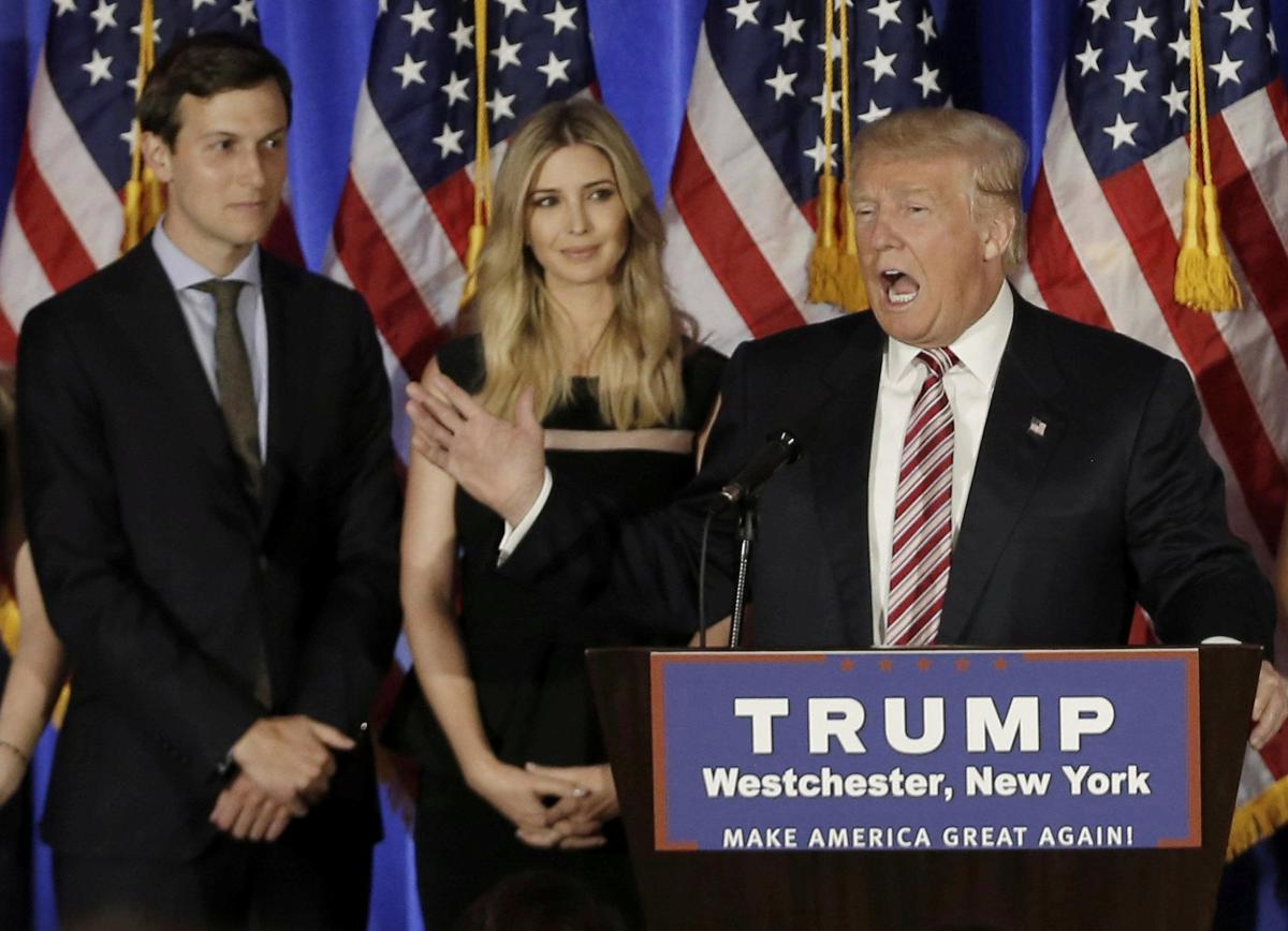 Since justice has to be applied equally, then we should lock up Trump, his daughter, and his son-in-law.