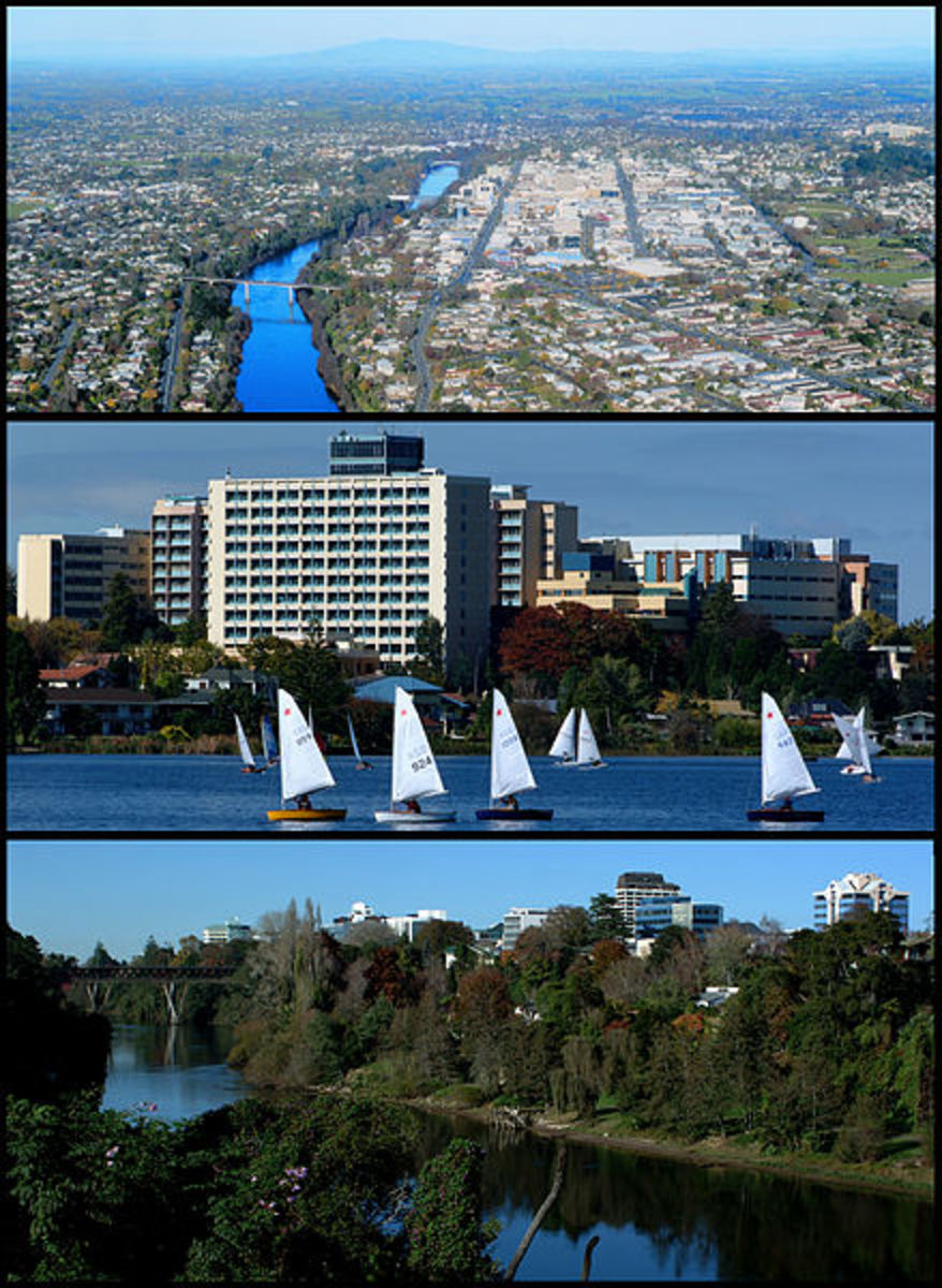 Hamilton, the fourth-largest urban area in New Zealand
