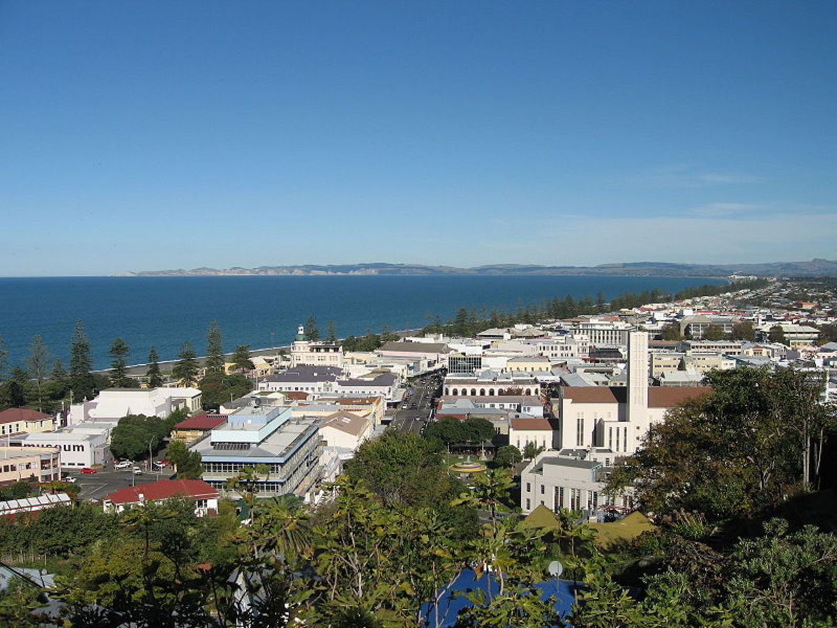 Napier, the sixth most populous urban area in New Zealand (Napier - Hastings)