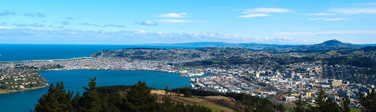 Dunedin, the second-largest city in the South Island