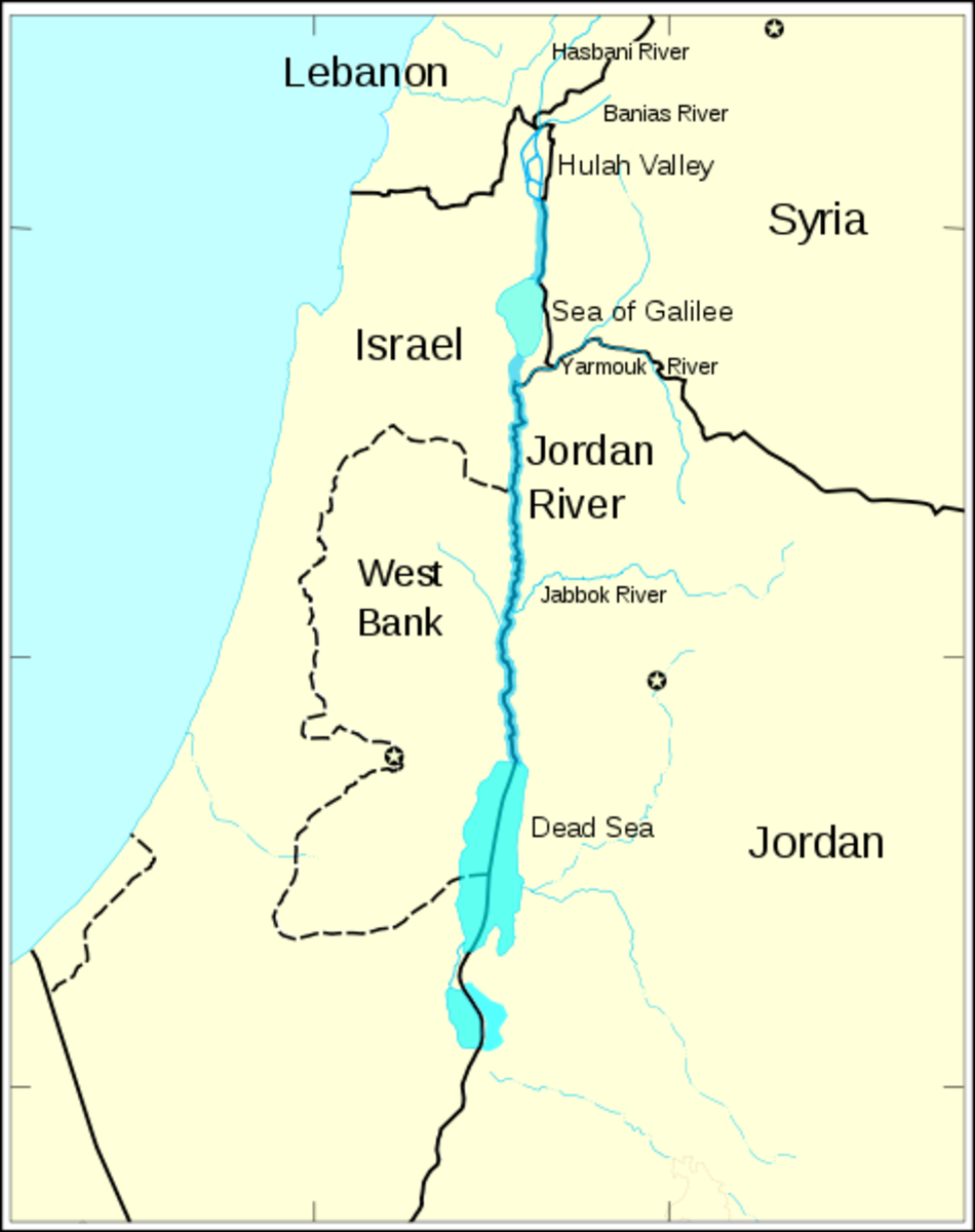 Jordan river and its tributaries