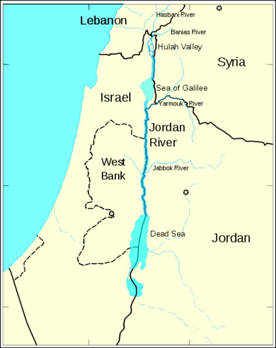 Jordan river and its tributaries