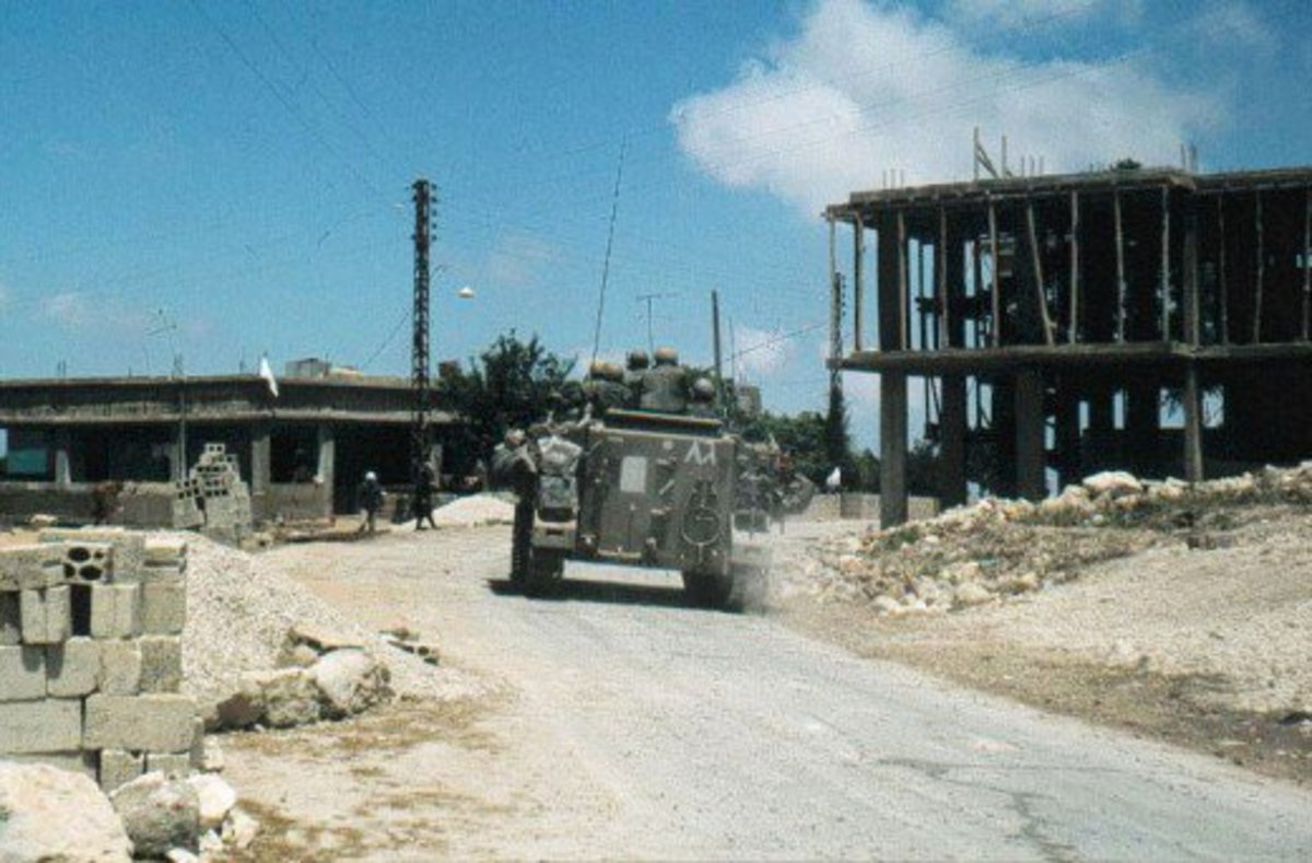 Israeli troops in South Lebanon, June, 1982
