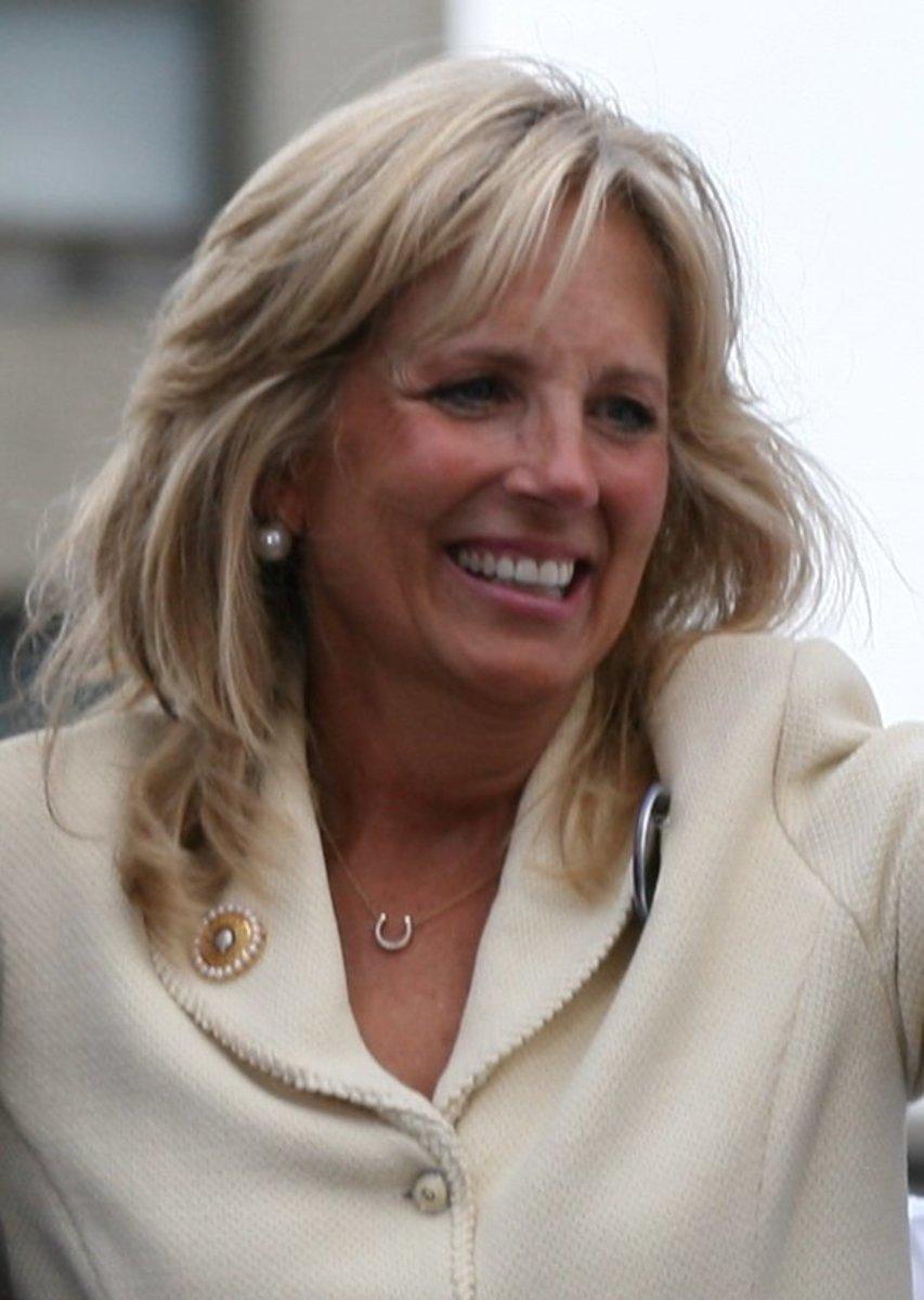 Jill Biden, wife of senator Joe Biden in 2008.