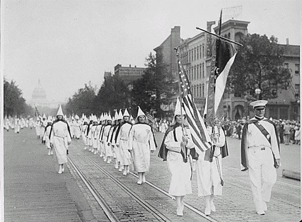 In 1928, the Ku Klux Klan marched down Pennsylvania Avenue in Washington.