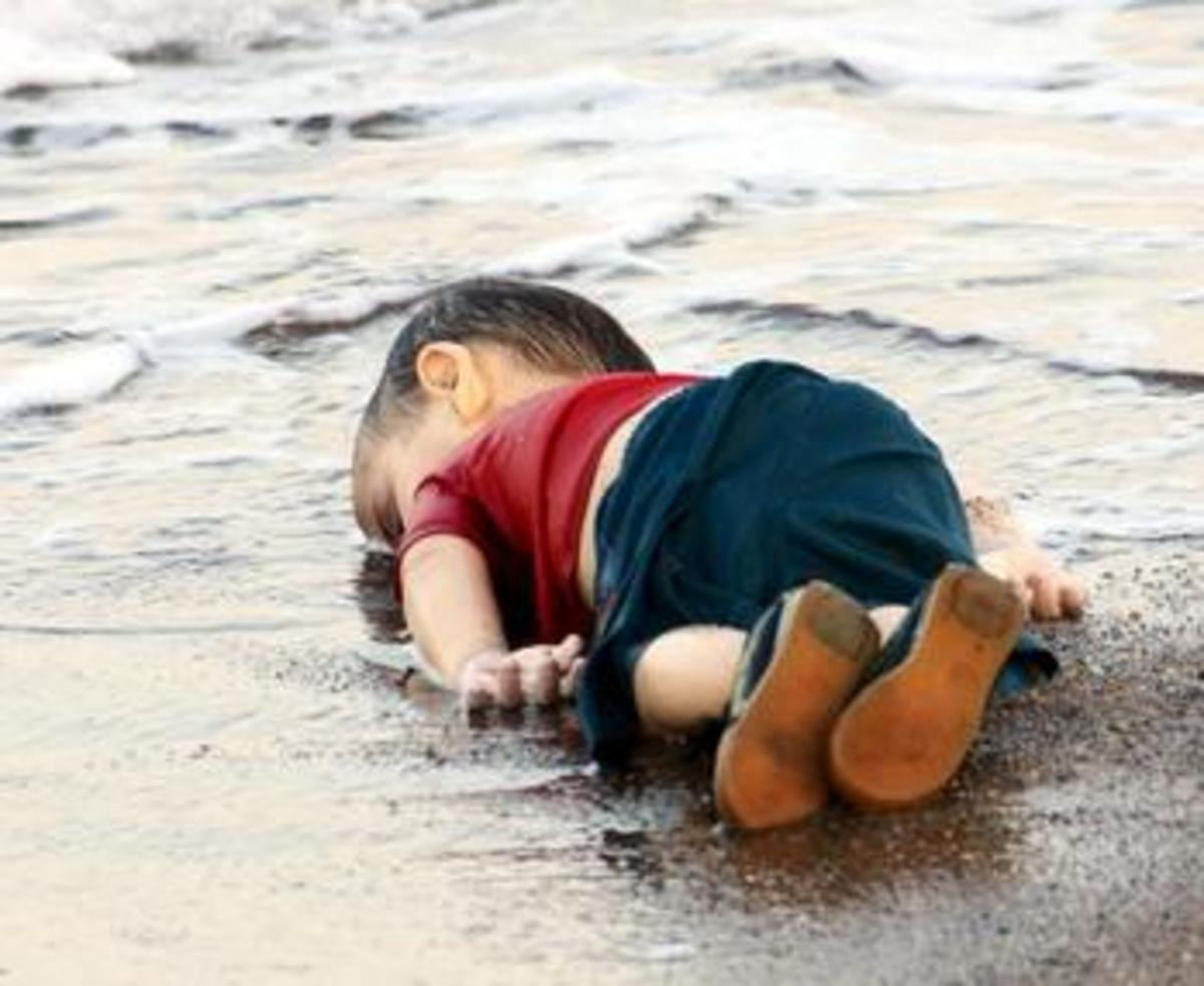 This picture of Alan Kurdi, an innocent victim of the horrendous Syrian civil war, broke millions of people's hearts, including mine.