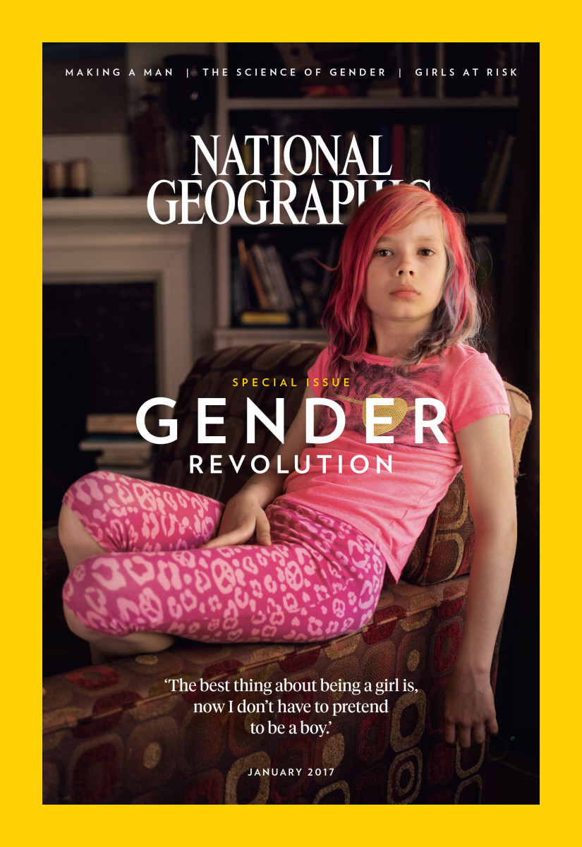 Avery Jackson, transgender youth, Cover of National Geographic, 2017