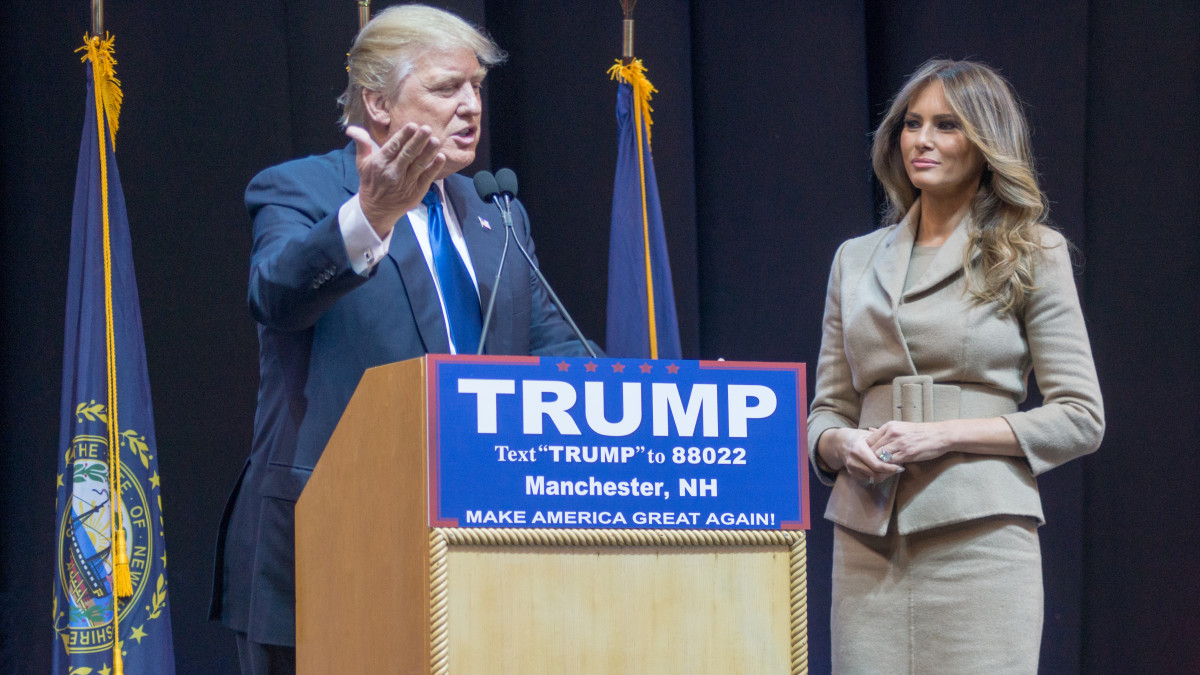 Donald and Melania Trump during the 2016 Presidential campaign.