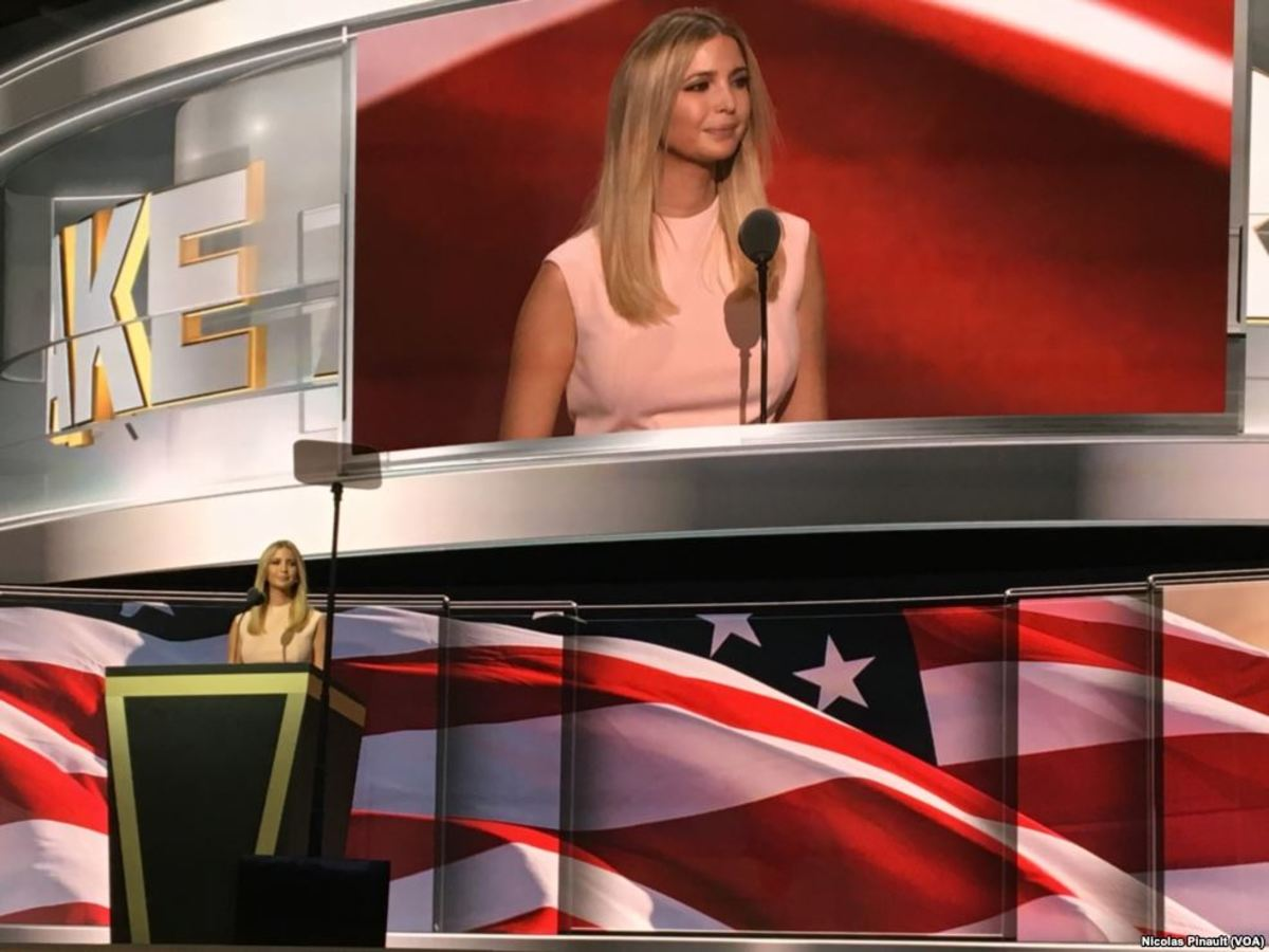 Ivanka Trump at the Republican Nation Convention.