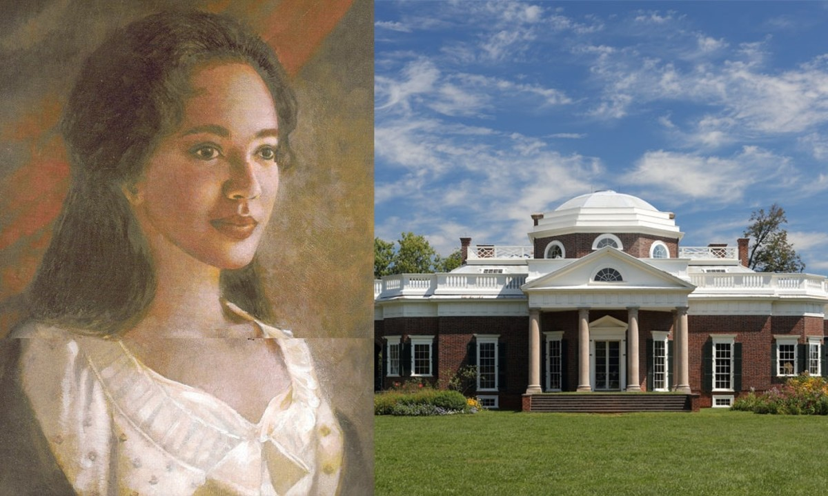 The place where Hemings' family and Jefferson lived.