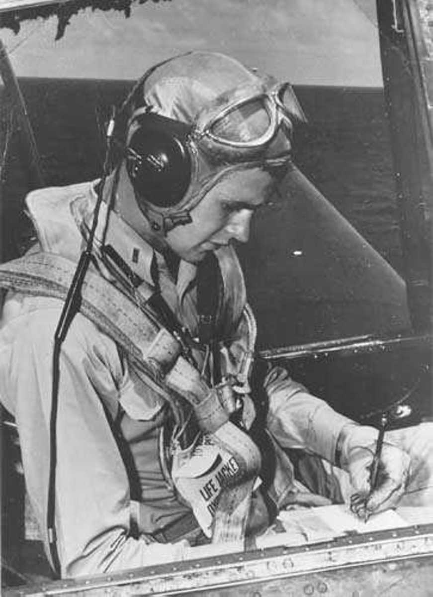 Avenger pilot was former American President George H. W. Bush, flying TBFs off the carrier USS San Jacinto (CVL-30) in the South Pacific.