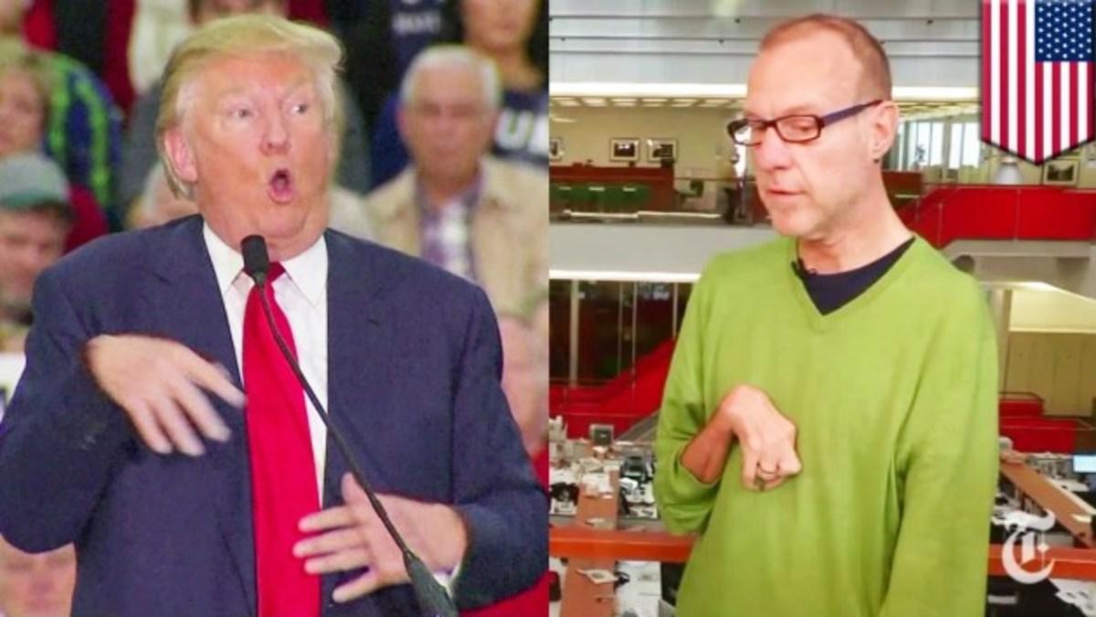 Trump, and reporter Serge Kovaleski.