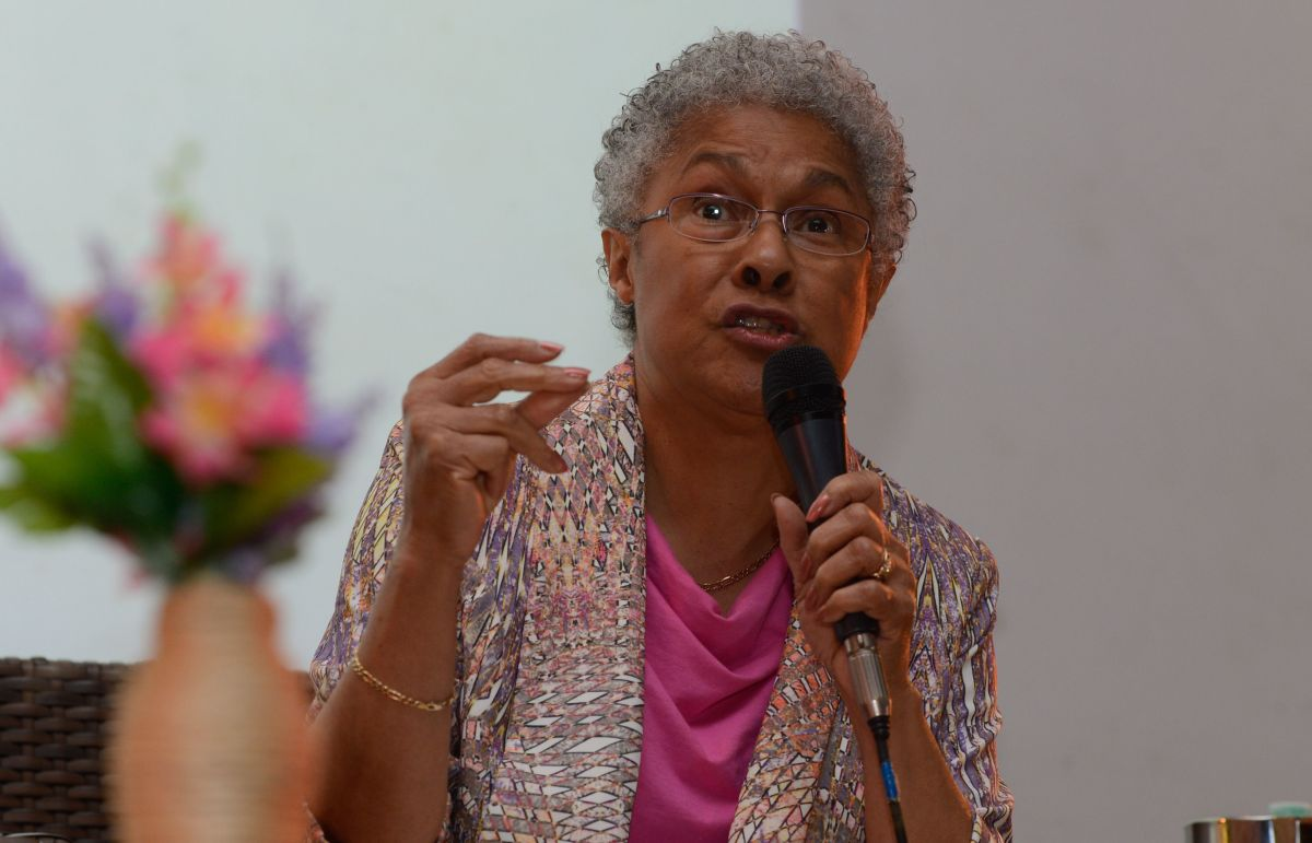 Patricia Hill Collins during a conference in Brazil. Photo by Valter Campanato/Agência Brasil - CCBY3.0