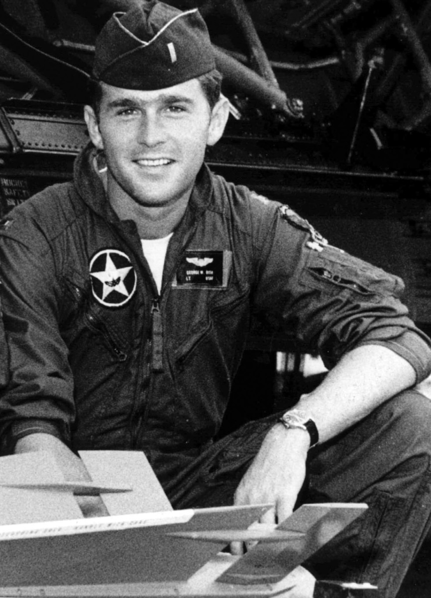 George W. Bush in the Texas Air National Guard, where he served from 1968 to 1973.