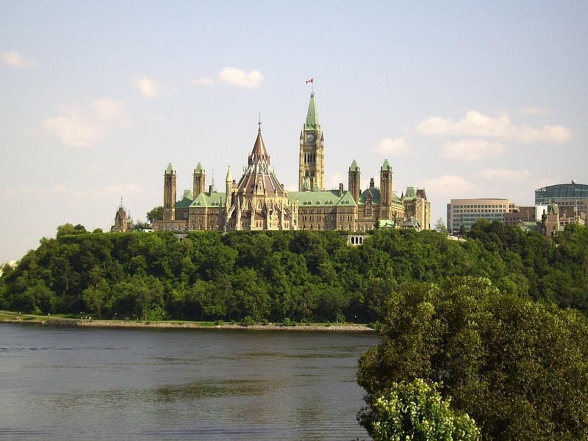 Parliament of Canada in Ottawa, Ontario