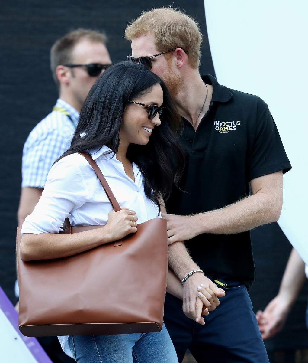 Prince Harry and girlfriend Meghan Markle at the Invictus Games in 2017