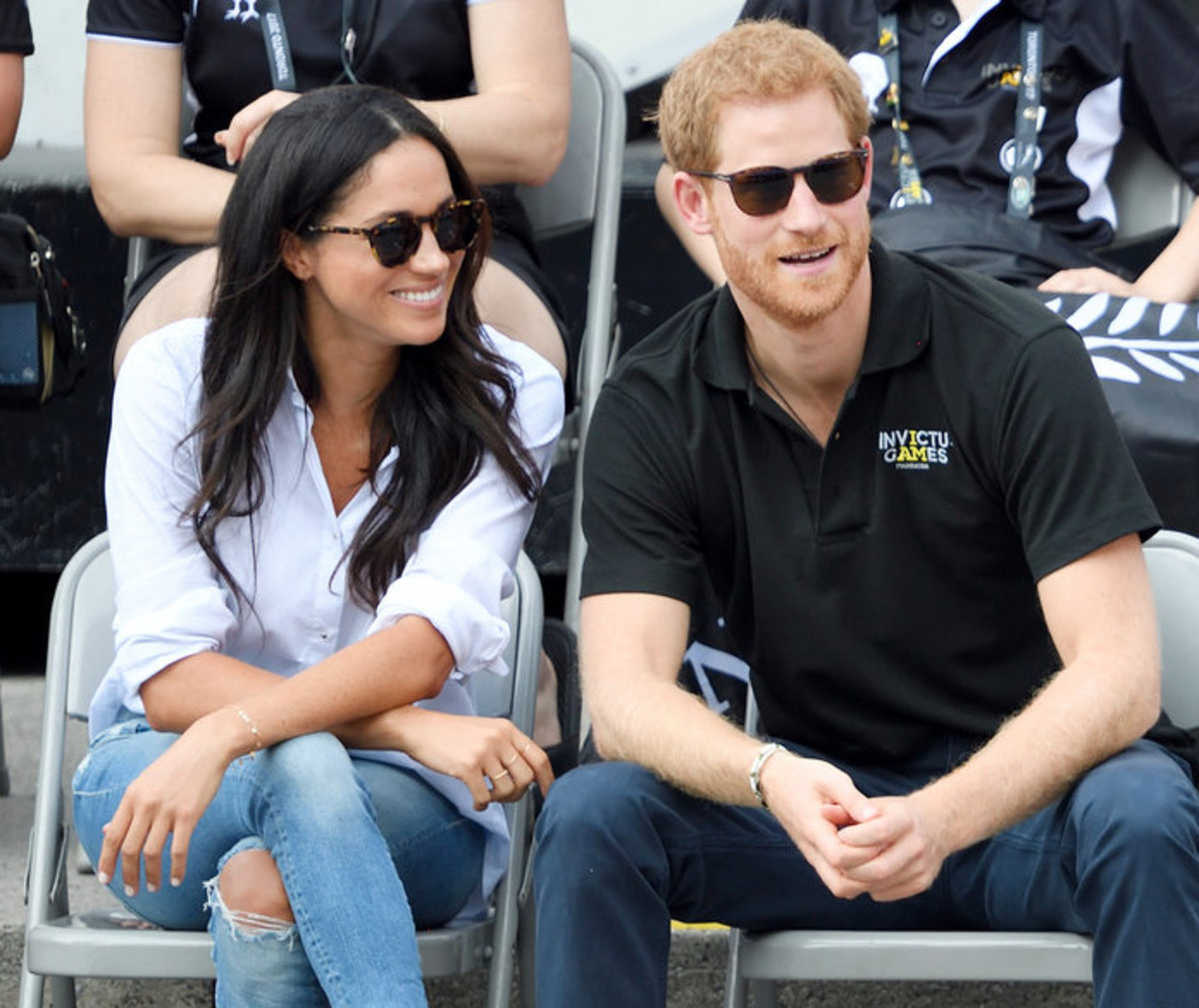 Prince Harry and Meghan Markle at the 2017 Invictus Games in Toronto, Canada before their engagement