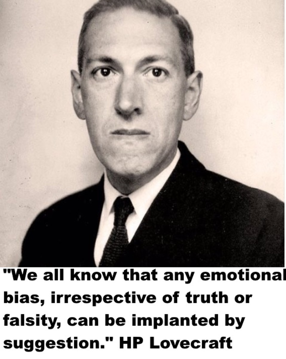 """If religion were true, its followers would not try to bludgeon their young into an artificial conformity; but would merely insist on their unbending quest for truth, irrespective of artificial backgrounds or practical consequences."" Lovecraft"