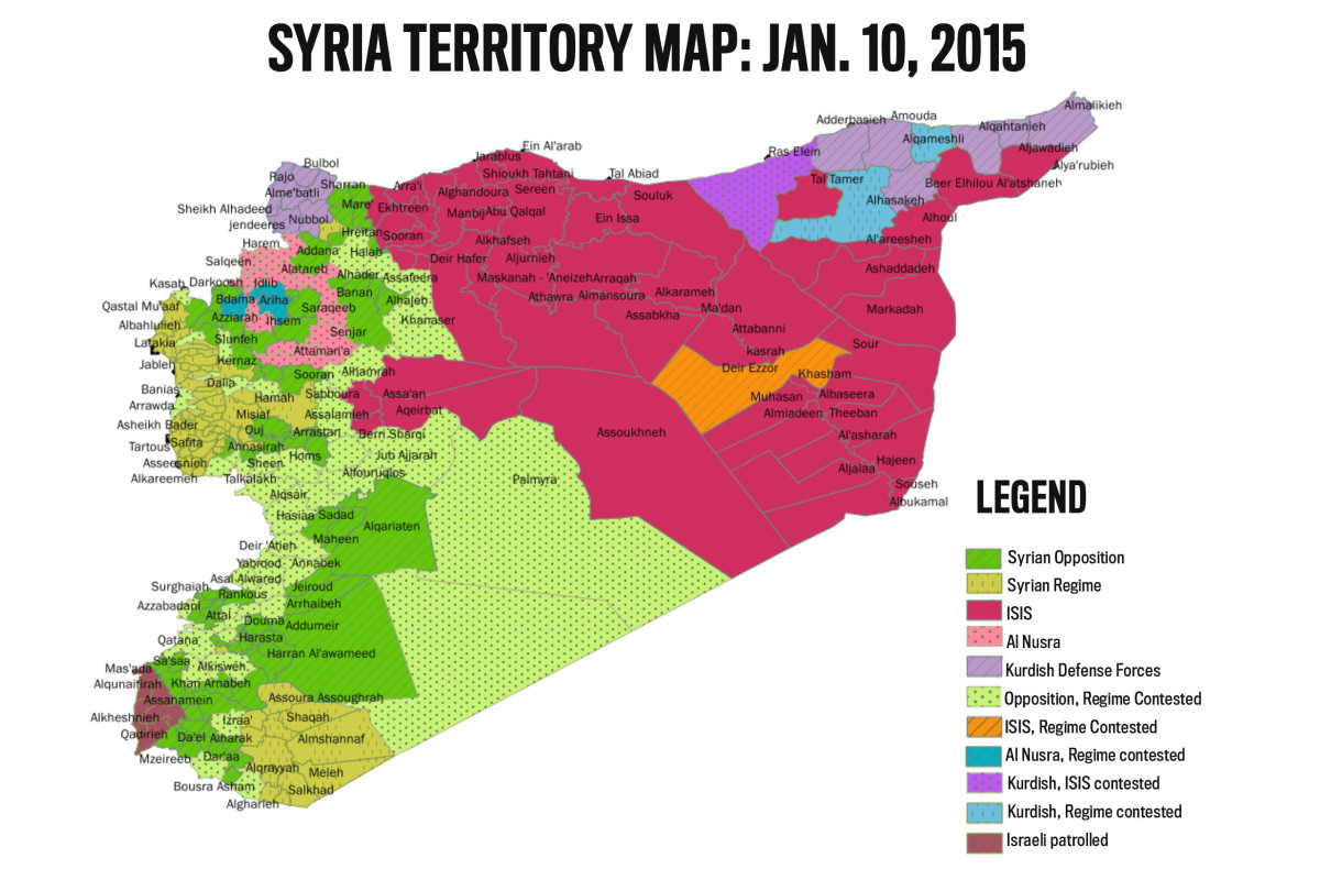 Syria in 2015, shortly before Russian intervention.