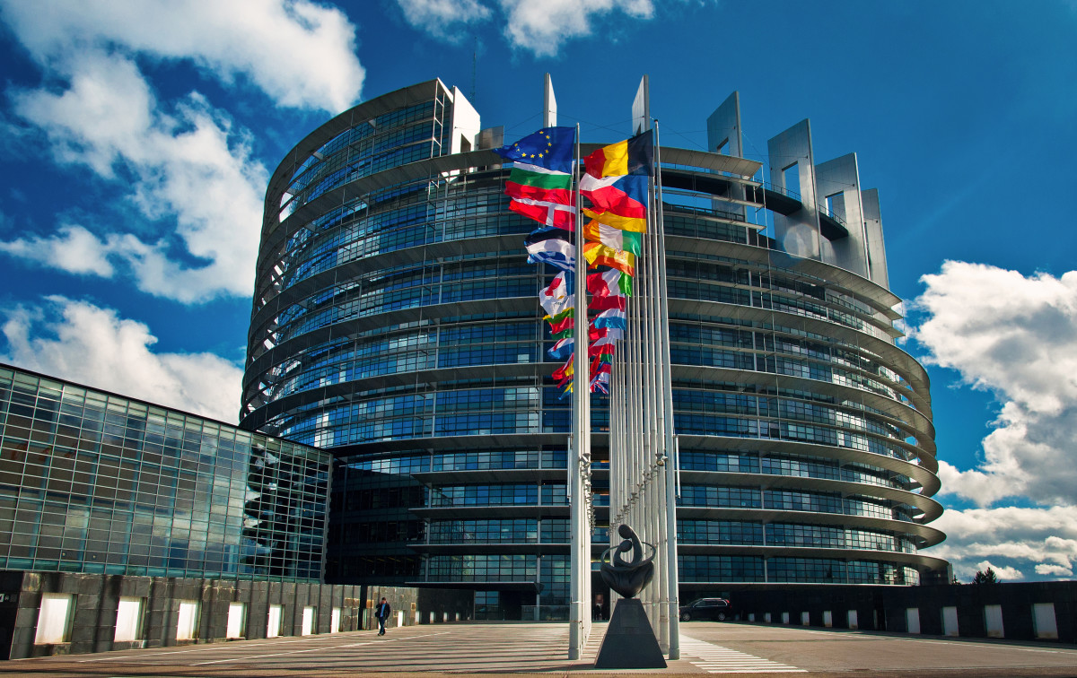 The European Parliament building.