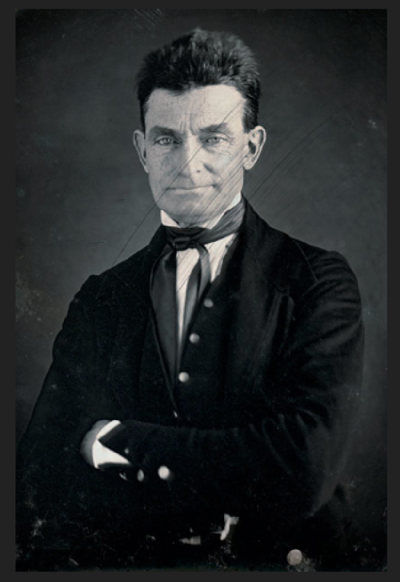 Controversial abolitionist leader, John Brown, led an assault on the armory at Harper's Ferry.  He was badly wounded, ironically, by local militia who kept their weapons in their homes, and later tried and executed.