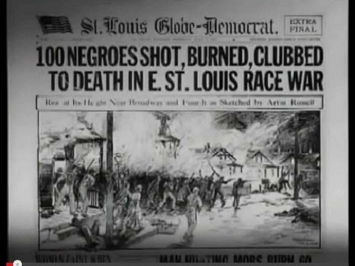 100 killed in East St. Louis.