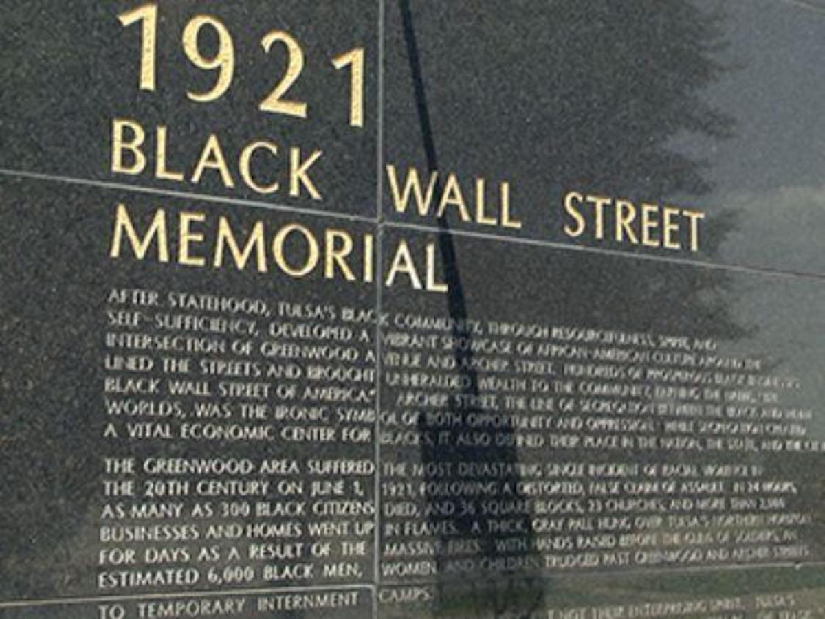 A memorial for Black Wall Street
