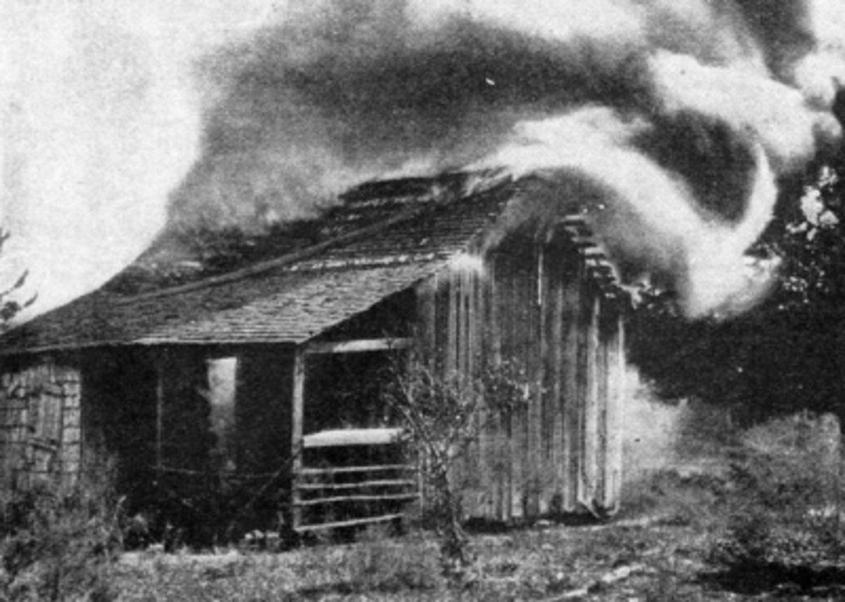 A home burns in Rosewood.