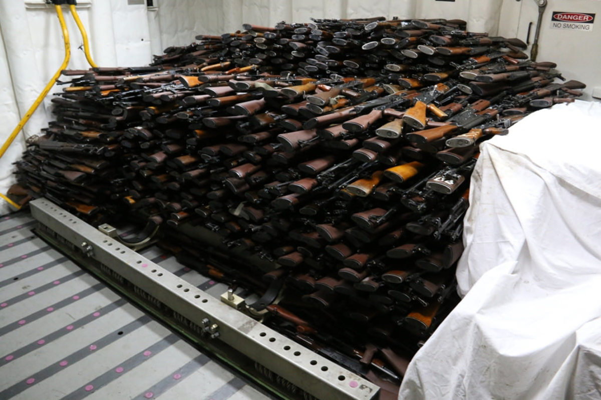 A huge cache of weapons.