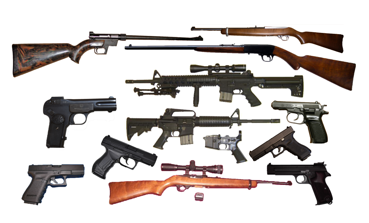 Examples of semi-automatic weapons
