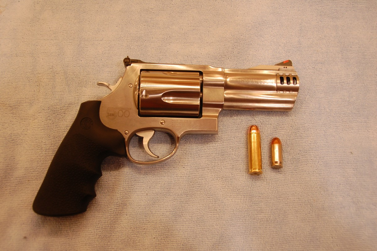 A Smith and Wesson Revolver