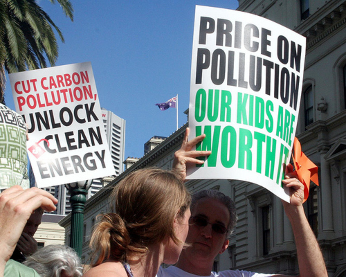 In Australia carbon pricing is on again, off again.