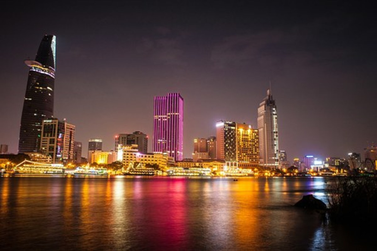 High-rise, modern apartments and shopping places for the wealthy in Ho Chi Minh City