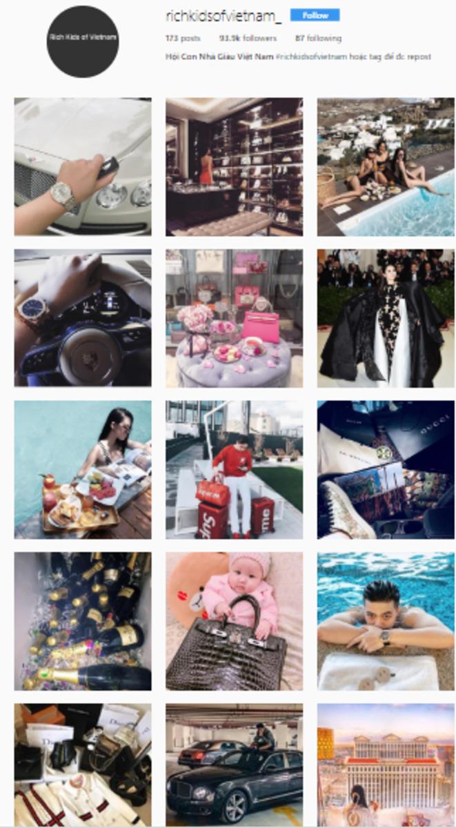 Rich kids of Vietnam Instagram