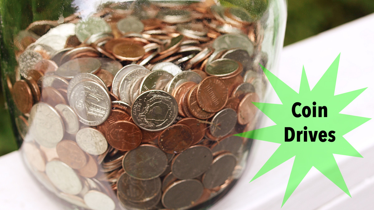 Almost everyone has some loose change in their pockets or purses.  Put it to good use by setting up a coin jar drive.
