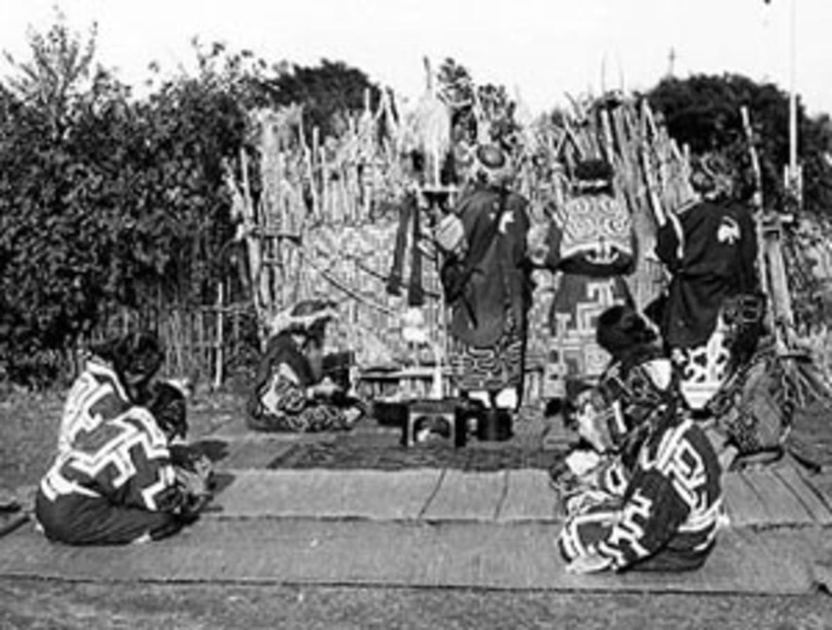 Ainu in ritual