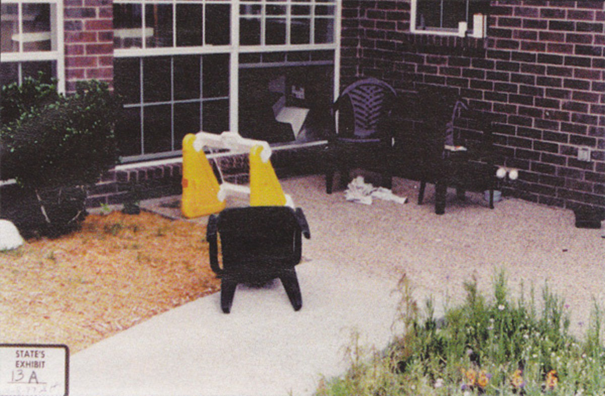 James Cron testified that there was no intruder since the mulch beneath the window was undisturbed. It's kind of hard to disturb mulch that isn't there...