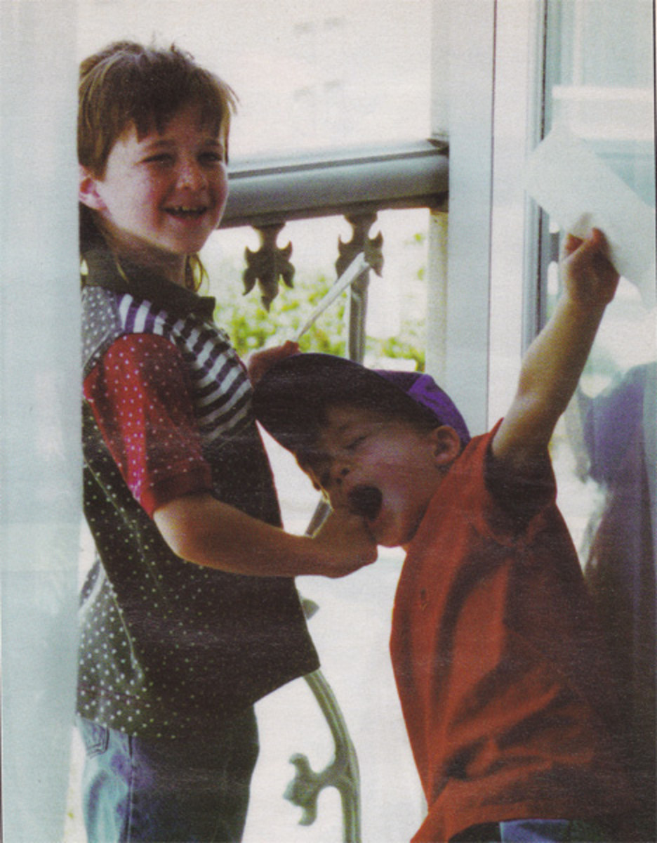 They were such happy little boys