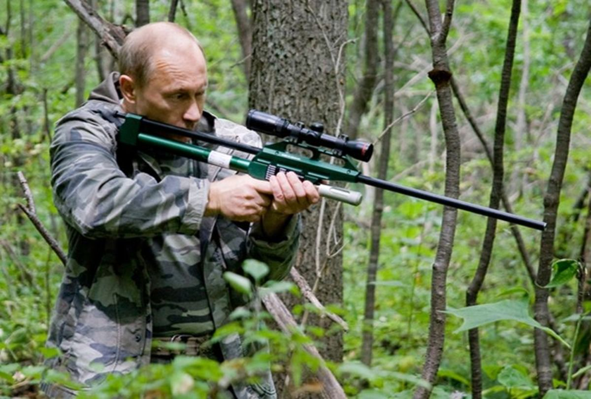Vlad the action man on a tiger hunt.