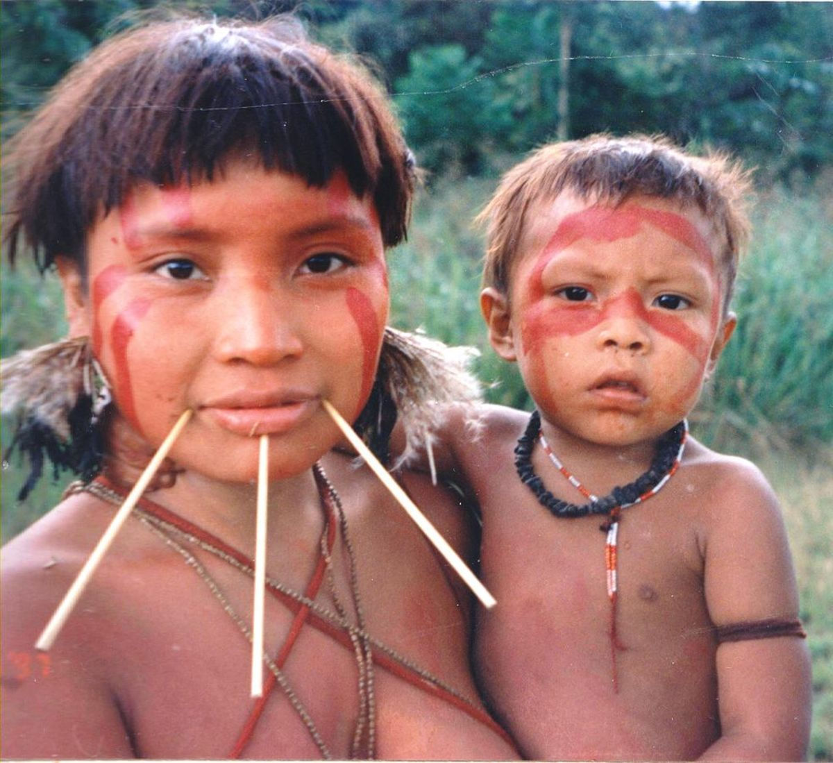 The Yanomami number about 30,000 and live in northern Brazil and southern Venezuela.
