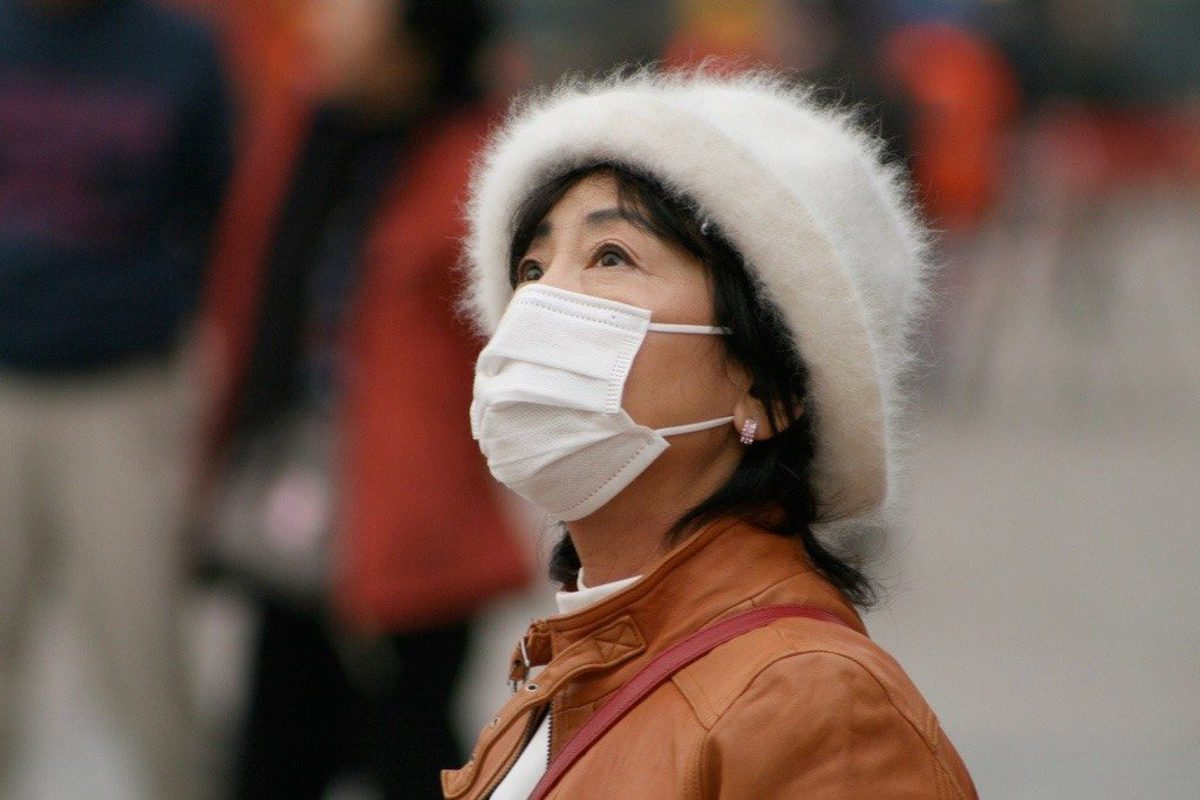 In some cities like Beijing, China people wear masks to avoid air pollution
