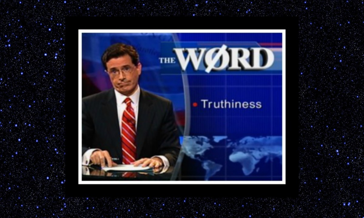 Stephen Colbert defines truthiness on his show.