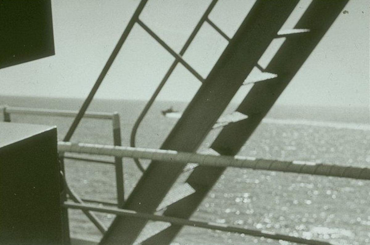 Israeli torpedo boat circling Liberty during attack.