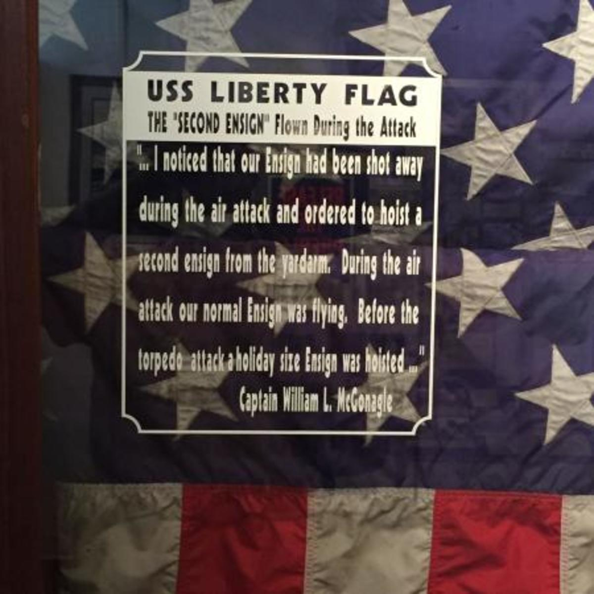 USS Liberty Flag at NSA Museum