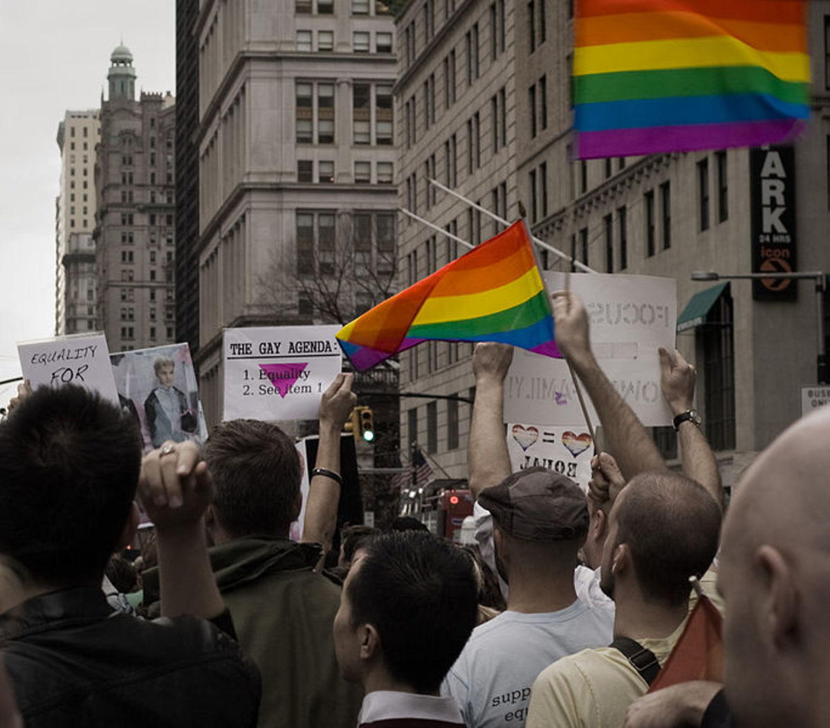 Pro-gay marriage rally, 2008.