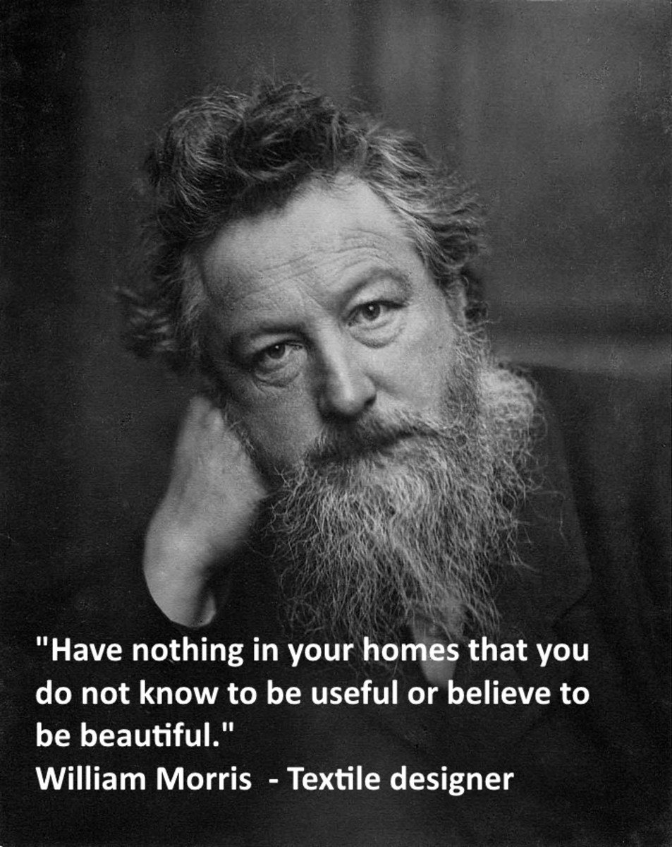"""Have nothing in your home that you do not know to be useful and or believe to be beautiful. William Morris"