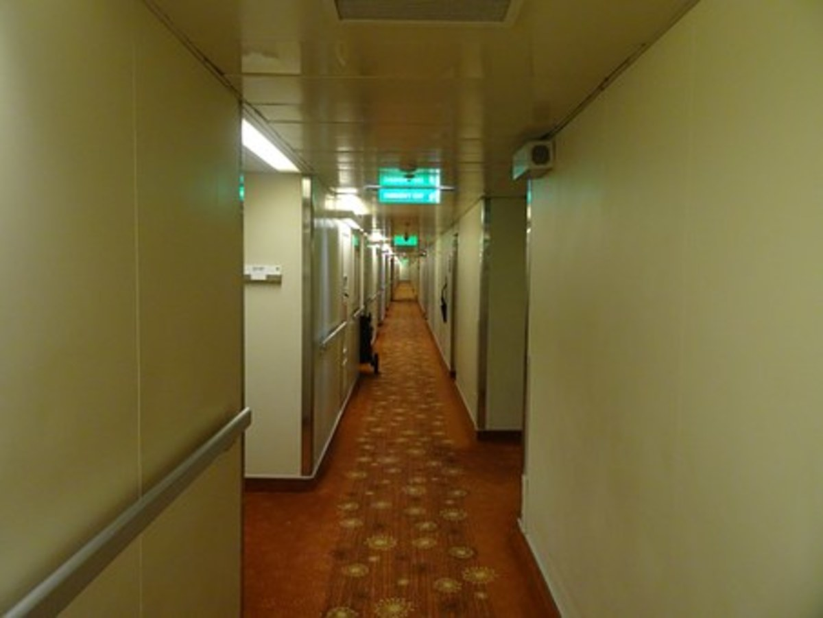 Always be aware of your surroundings.  A stranger lurking in the shadows of a hotel corridor can be a weary traveler's worst nightmare.