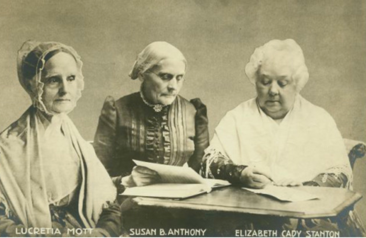 Suffragists Mott, Stanton and Anthony